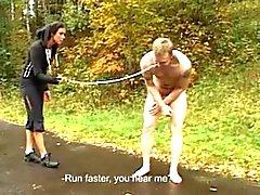 Femdom jogging