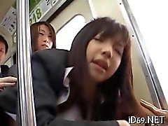 Ninja de invisible que jode la colegiala de Asia en público