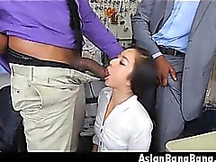Dinks Asian Beauty Mila Jade Sucer Deux sombres dans Cleaners