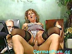 Sexy German boss fucking employee