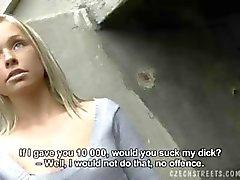 CZECH STREETS - Exclusive Handjob blonde HANKA