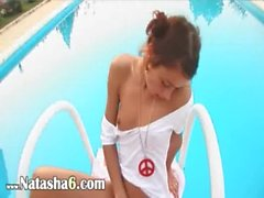 Beautiful Natasha undress at pool