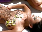 2 lesbians Devi and Nikki banging each other