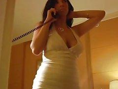 Елена Йенсен пальцами киска во жесткие платье !