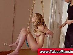 Hot blonde bound hoe gets her pussy toyed in hi def