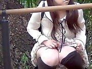 Hairy japanese pissing