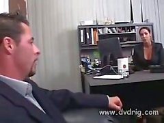 Experienced Boss Catches His MILF Secretary Between His Dick And A Desk And Fucks Her Bad Ending Up Dumping His Cum Between Her Huge Tits