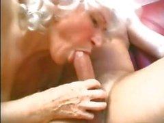 Großmutter liebt zu saugen und ficken Jungschwanz