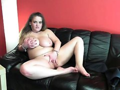 Kinky asian brunette with big boobs sucks big stiff boner