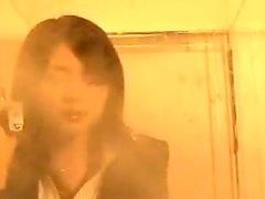 Bodacious japanische Frau in Strumpfhosen hat ihren Geliebten Bohren