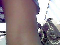 große Upskirt schiere Strumpfhosen der heiße Brünette