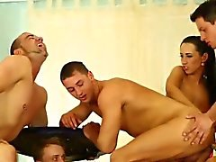 Bi sluts lick and finger in orgy