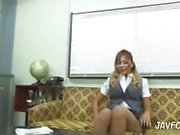 sexy japanese maid in miniskirt suffers from upskirt panty shot at work!