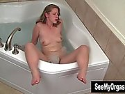 Adorable Carmen Masturbating In Jacuzzi