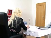 Hot busty casting agent fucked on interview
