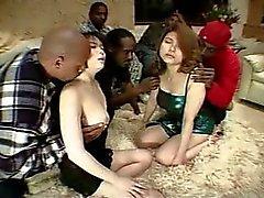 Japanischen Frauen mit schwarzen Männern gefickt