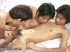 Hot asian gay boys in threesome gay porn part1