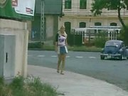 blonde slag pisses in full view of motorists