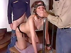 Bound Slut take a hard Anal fuck