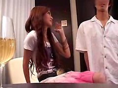 Japanese pussy fingering in office