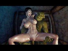 Hardcore-3D-Hentai-secret-of-Beauty-Orc-Ritual- (Uncensored) -HD-720p