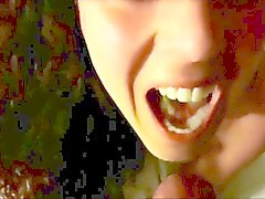 Cum in a beautiful mouth