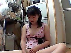 Asian teen enjoys solo