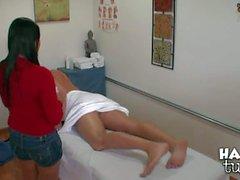 Asian massage babe Adrianna Luna