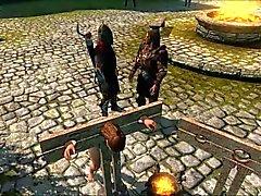 Périls du échappé à Skyrim slavegirl 17