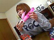 Sexy babe chooses which toy she is using for masturbation