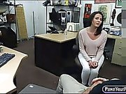 Nasty housewife slammed by horny pawn guy at the pawnshop