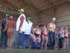 big girls saturday contest at abate 2014 algona iowa biker rally