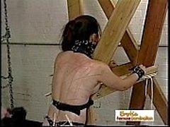 Escravos da menina dominados por um Shemale Implacável