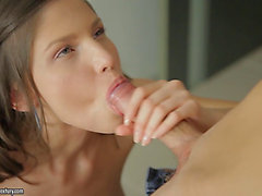 Agreeable Cloee groans in joy in a anal pounding scene in the kitchen