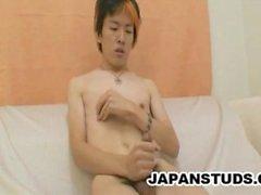 Tsubasa Miyashita - Sıska Japon Oğlu, Tüylü Cock'u Wanking