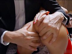 Beatiful brunette Anissa Kate was fucked by her boss