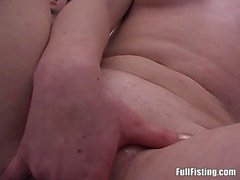 Pretty Blonde Teen Wife Receive Full Pussy Fisting