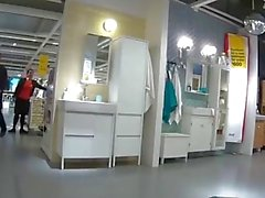 public ikea shopping fuck piss and cum
