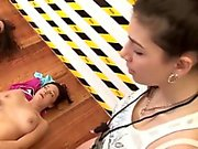 Real hairy pussy lesbo gets bendy