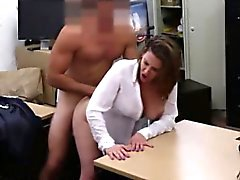 Chubby amateur pounded in pawnshop deal