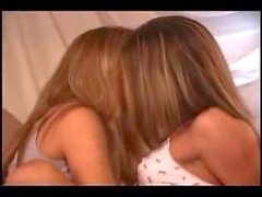 Cute lesbo couple rub and lick eachother passionately