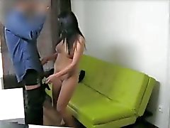 Casting - Crazy chick gets creampie