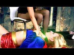 Supergirl foot slave F/F foot worship