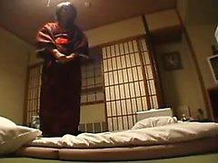 Japonés nena jugando coño