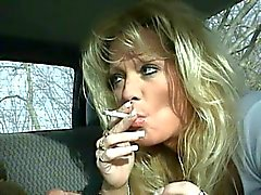 Hot Blonde MILF Staci Smoking BJ