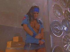 Busty slut in uniform Mikayla Mendez