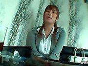 sexy asiática Milf escritório trabalhador