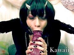 Суккуба заклинанию девочка сосет вне Demon - Хеллоуин Бад Dragon