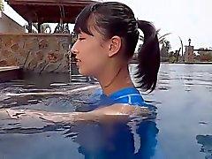 Aasian Teen Blue Uimapuku Puhdas ei - alasti