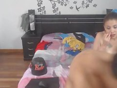 Колумбийский подросток детка получает ебут на оба отверстия